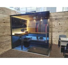 SAUNA KING 3in1 kombinierte Sauna mit Digital Printed Glas