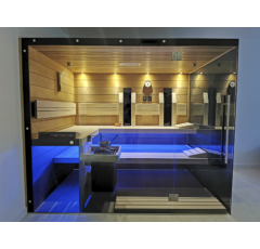 SAUNA KING 3in1 Thermo Espe Sauna mit 2 Glasseiten, 250x200cm