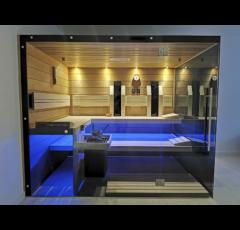 SAUNA KING Termo-nyárfa finnszauna két üvegoldallal, 250x200cm (2. sz)