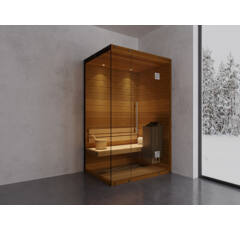 SAUNA KING Finn+Bio kombinierte Sauna Teneriffa für 1-2 Personen