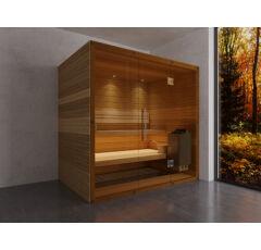 SAUNA KING Finn+Bio kombinierte Sauna Hawai für 2-3 Personen