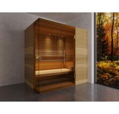 SAUNA KING Finn+Bio kombinierte Sauna Rhodos für 2-3 Personen
