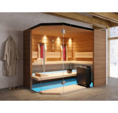 SAUNA KING Finn+Infra kombinierte Sauna Mallorca für 4-5 Personen