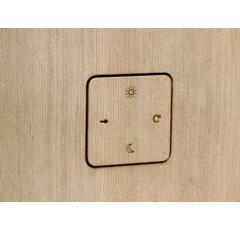 Collaxx Wandferbedienung aus Holz