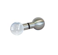 Dampfbad Kugelgriff Edelstahl-Glas