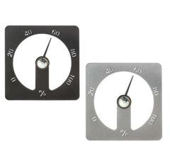 "Hygrometer ""Cozmic"" aus Aluminium, grau oder schwarz"