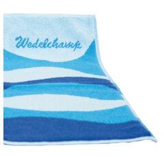 Wedeltuch vom Deutschen Saunabund, blau/türkis