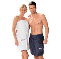 Damen Sauna-Kilt Baumwolle, 70cm lang, weiss