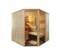 Kombinierte Sauna Relax Eckversion zum Selbstbau (Finn+Infra)