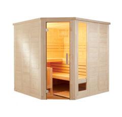 Finnsauna Komfort Corner Large zum Selbstbau