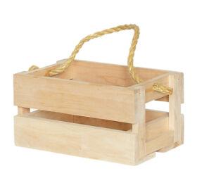 Holzkasten für Saunazubehöre mit Trageseil