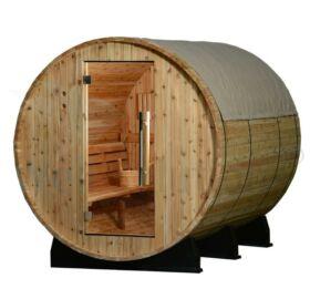 Regenschutz zu Fass-Saunen