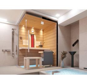 SAUNA KING Finn+Infra kombinierte Sauna Teneriffa für 1-2 Personen