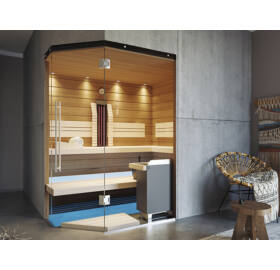 SAUNA KING Finn+Infra kombinierte Sauna Mallorca für 2-3 Personen