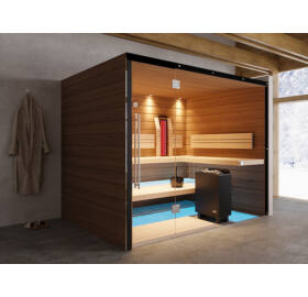 SAUNA KING SAUNA KING Finn+Infra kombinierte Sauna Hawai für 4-5 Personen