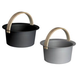 """Sauna-Eimer """"Cozmic"""" aus Aluminium, grau oder schwarz"""