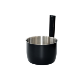 Saunakübel aus Edelstahl in schwarzer Trendoptik, 5L