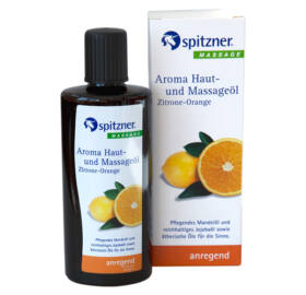 Bőr- és Masszázsolaj, Citrom-narancs, 190 ml