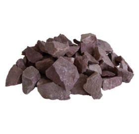 Saunasteine, himbeerfarber Quarzit, 20kg (70-150mm)