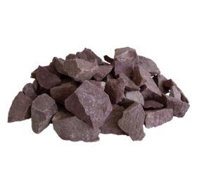 Szaunakő, málnaszínű qvarcit, 20kg (70-150mm)
