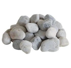 Fehér, kerekített kvarc, 10 kg (50-90mm)