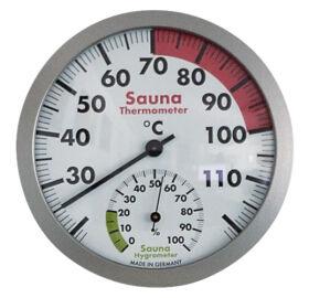 Hő- és páramérő, 120 mm átmérő