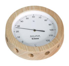 Hőmérő fakeretben, 150 mm átmérő