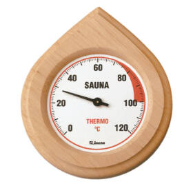 Finn Thermometer in Naturholz Rahme