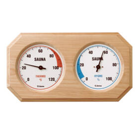 Finn Thermo - und Hygrometer in Naturholz Rahme