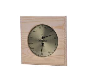 "Thermo-Hygrometer Quadrat ""Basic"" aus Espenholz"