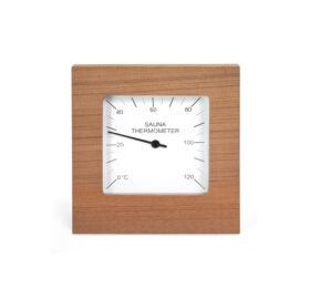 Thermometer Quadrat aus rotem Zedernholz