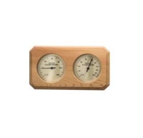 Thermo-Hygrometer  Quadrat, aus rotem Zedernholz, 8-eckig