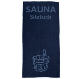 """Sauna-Sitztuch """"Suomi"""", 70 x 145 cm, dunkelblau"""