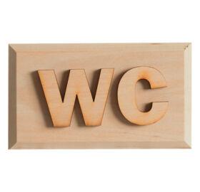 """Hinweisschild """"WC"""" aus Erlenholz"""