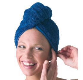 Haarturban Teddy-Plüsch, Blau