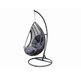 Bello Giardino Hängesessel aus Polyrattan in grau melange, BELLISSIMO