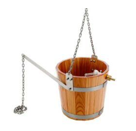 Schwalleimer aus Lärchenholz mit Aufhängekette