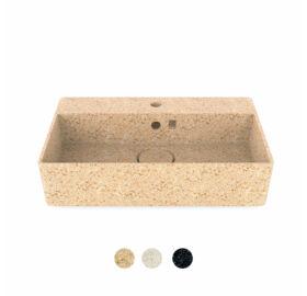 """WOODIO Waschbecken """"Cube60"""", rechteckig, mit Wasserhahn-Loch, Kollektion """"Core"""""""