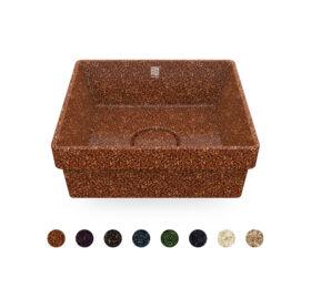 """WOODIO Einbau-Waschbecken """"Cube40"""", quadratisch, Kollektion """"Northern Elements"""""""