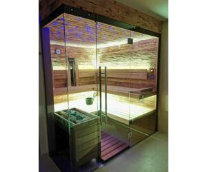 SAUNA KING Finn+Infra kombinierte Sauna Rhodos für 4-5 Personen