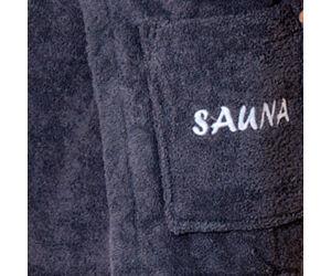 Férfi szauna-kilt, 50cm hosszú, antracit