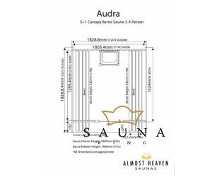 ALMOST HEAVEN hordó szauna Audra lucfenyőből