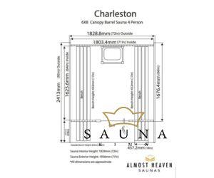 ALMOST HEAVEN hordó szauna Charleston lucfenyőből