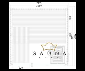 Finnsauna Panorama Large zum Selbstbau (Innensauna)