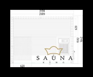 """Építsd magad"" Finnszauna Panorama Small"