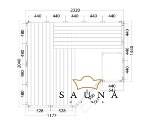 Finnsauna Polaris Large  zum Selbstbau (Innensauna)