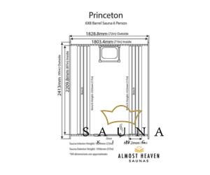 ALMOST HEAVEN hordó szauna Princeton lucfenyőből