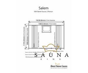 ALMOST HEAVEN hordó szauna Salem lucfenyőből