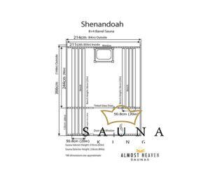 ALMOST HEAVEN hordó szauna Shenandoah rusztikus vörös cédrusból