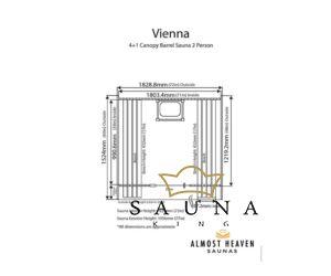 ALMOST HEAVEN hordó szauna Vienna lucfenyőből